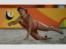 Scenes from Women's Beach Volleyball at the Rio Olympics