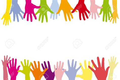 clipart color hands   row   cliparts