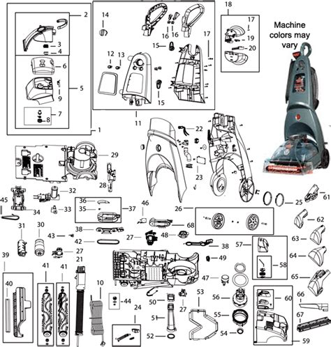 bissell 66q4 proheat 2x healthy home upright vacuum cleaner parts