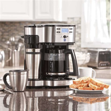 Comes with everything you need. Hamilton Beach 2-Way Coffee Maker with 12-Cup Carafe & Pod ...