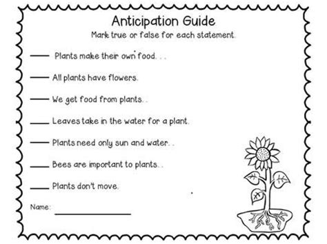 anticipation guide strategies  students