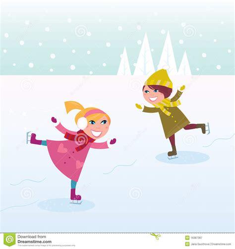winter skating and boy royalty free stock photography image 16387367