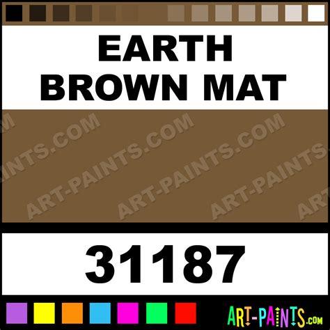 earth brown mat artist airbrush spray paints 31187