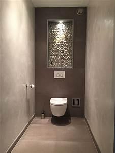 Exclusieve Toilet Bewerkt Met Fluweel Pleister  Tegels En