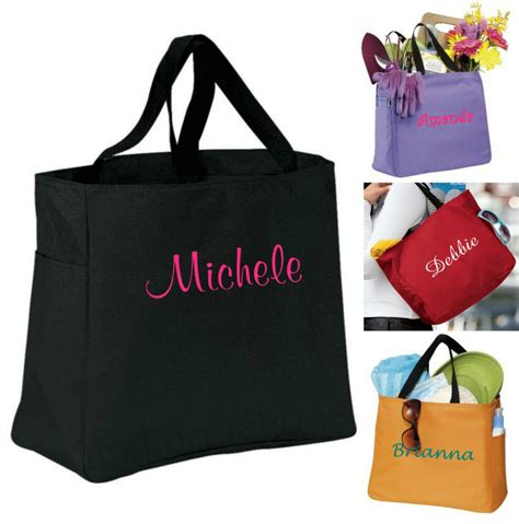 personalized tote bag bridesmaid gift cheer dance monogrammed embroidered ebay