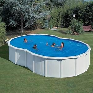 piscine acier gre varadero en forme de huit blanche With piscine en forme de coeur