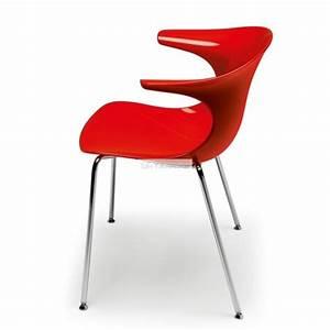 Chaise Rouge Design : chaise plastique rouge loop et chaises plastique rouge design chaises rouge cuisine bureau ~ Teatrodelosmanantiales.com Idées de Décoration