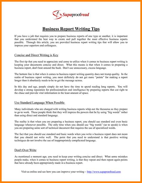 report writing format with exle