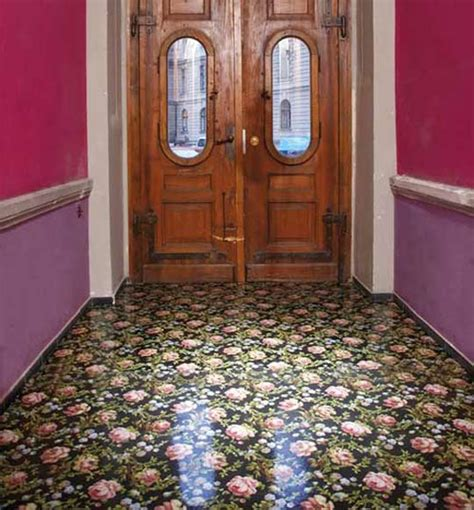 wallpaper floors ideas wallpaper on the floor apartment therapy