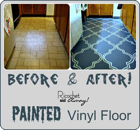 can you paint floor tiles in kitchen ricochet and away i painted my vinyl floor 9792