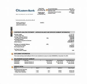 sample bank statement template 13 free documents With blank bank statement template download