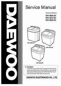 Schematic Diagram Daewoo Dw 4010 Washing Machine