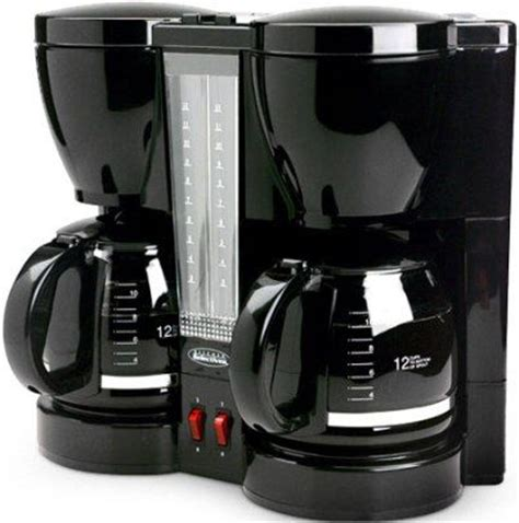 select brands cm 202 kitchen selective 12 cup dual coffeemaker independently brews one or two