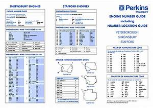 Perkins Engine Numbering Guide