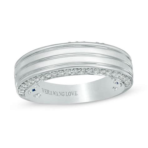 vera wang love collection mens  ct tw diamond edge