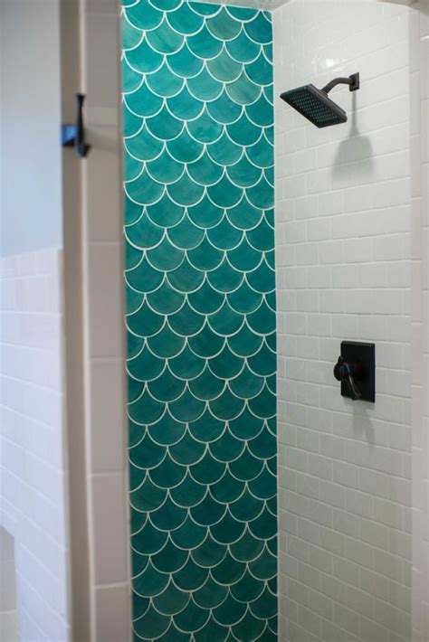 fish scale tile shower   pictures