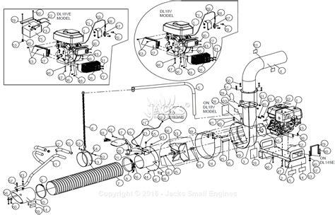 Billy Goat Dl1401se Parts Diagram For Full Assembly