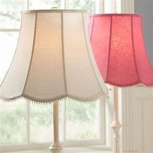 Scallop floor lamp shade pbteen for Floor lamp with scalloped shade