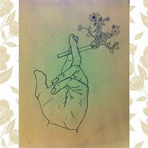 flower drawing on Tumblr