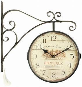 Horloge De Gare : horloge de gare ancienne double face chateau grand bordeaux 24cm ~ Teatrodelosmanantiales.com Idées de Décoration