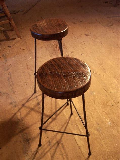 buy hand  reclaimed wood bar stools  industrial