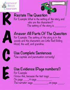 race constructed response strategy poster constructed With google docs reading comprehension