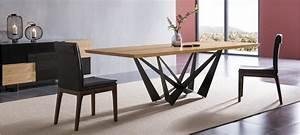 Table à Manger Carrée : table manger design bois table carr e blanche avec rallonge trendsetter ~ Teatrodelosmanantiales.com Idées de Décoration