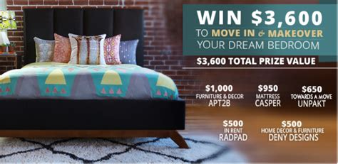 Win The Move In & Makeover Your Dream Bedroom Giveaway