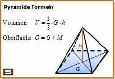 grundfläche berechnen pyramide berechnen volumen oberfläche mantelfläche