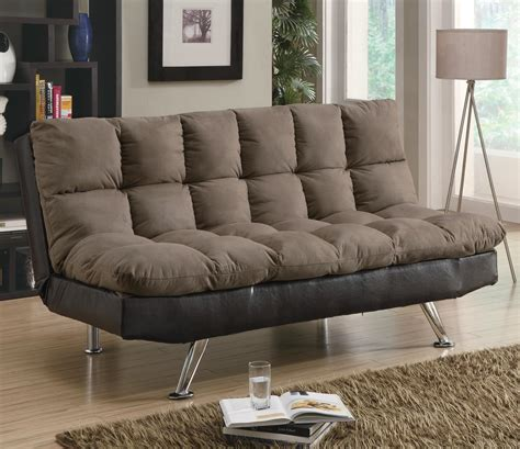 Contemporary Microfiber Sofa by Sofa Beds And Futons Contemporary Brown Microfiber