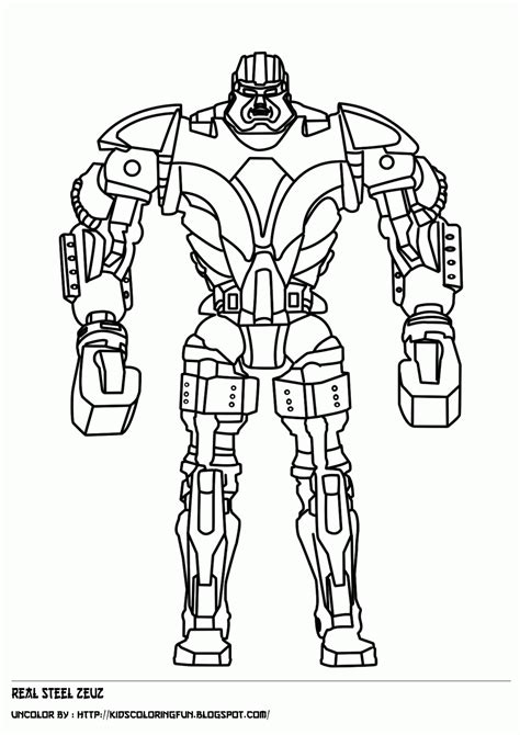 real steel noisy boy   fantasy coloring pages