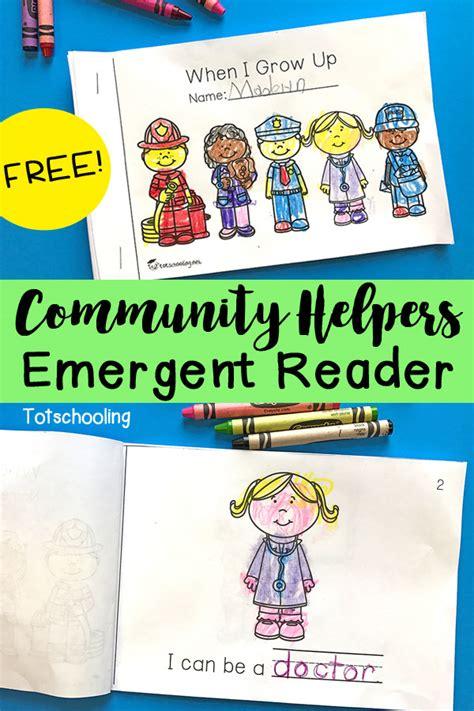 community helpers emergent reader totschooling toddler 384 | Community Helpers Emergent Reader