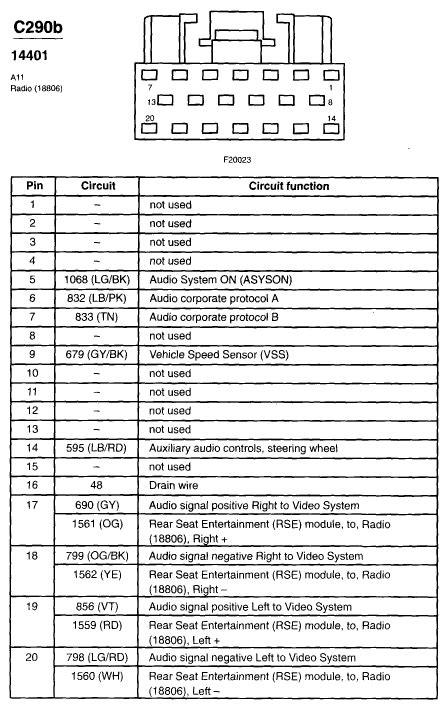 2002 Ford F 150 Xlt Radio Wire Diagram by I Need A Radio Wiring Diagram For A 2002 F350