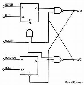 S R Flip Flop - Basic Circuit - Circuit Diagram