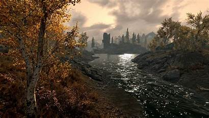Skyrim Landscape Desktop Wallpapers 1080p Scenery Sunset