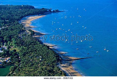 cing bois de la chaise noirmoutier noirmoutier island aerial view stock photos