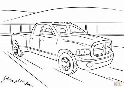 Dodge Ram Coloring Pages Printable Cummins Charger