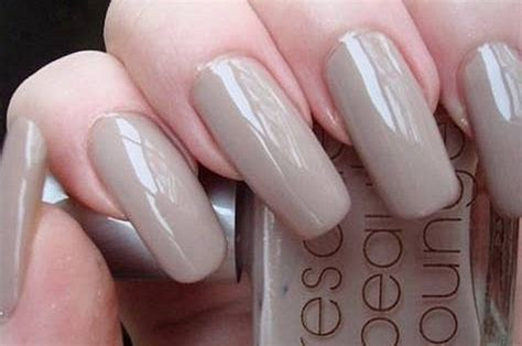 beige nail design and health