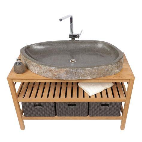 naturstein waschbecken oval flach ca 100 cm bei wohnfreuden kaufen