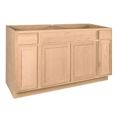 lowes unfinished bathroom cabinets shop project source 60 in w x 34 5 in h x 24 in d