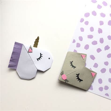marque page animaux diy les jolis marques page animaux en origami moma