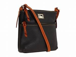 Dooney bourke dillen 2 letter carrier black tan zappos for Dooney and bourke letter carrier