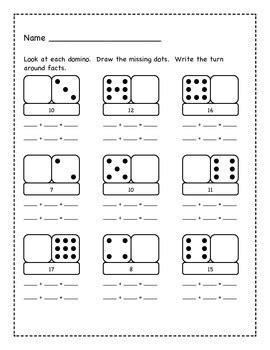 domino turn  math facts  kait  teachers pay