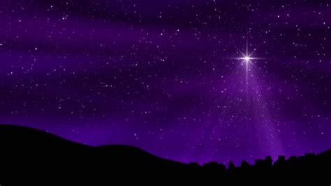 night stars christmas lights seamless loop features the bethlehem christmas nativity