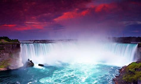niagara falls  purple sky wallpaper
