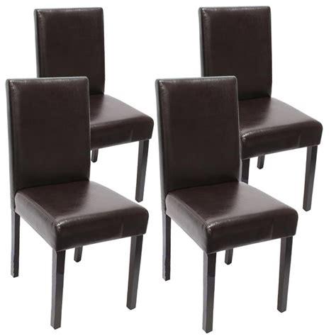 chaises salle à manger cuir lot de 4 chaises de salle à manger simili cuir marron