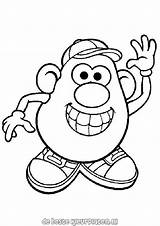 Coloring Mr Pages Potatohead Printable Ratings Yet sketch template