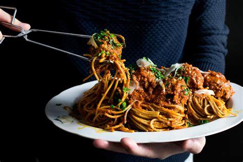 lady  pups pepperoni meatballs spaghetti