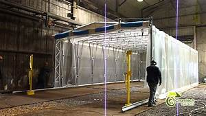 Industrial Retractable Spray Paint Booths & Dust
