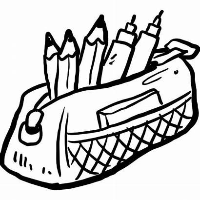 Pencil Case Icon Clipart Education Tools Premium